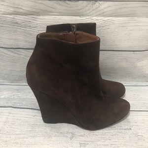 Sam Edelman Wilma Wedge Zip Ankle Boots (0395)